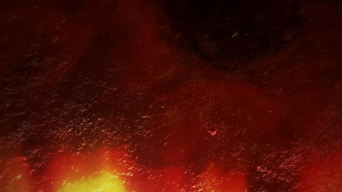 Cinematic theme with red hot lava and motion camera on dark background Animation