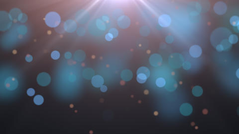Flying and motion abstract particles and round bokeh on dark animation background Animation