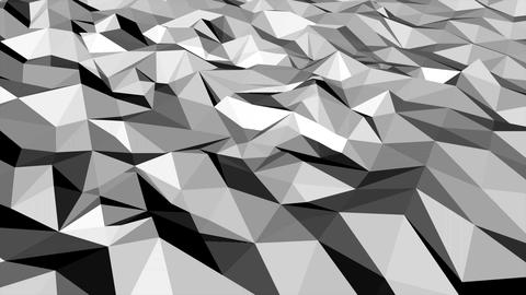 Motion dark white low poly abstract background Animation