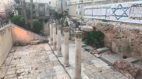 Jerusalem, Israel - walls with patterns and frescoes from the past part 20 Live Action