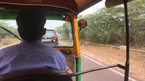 Jaipur, India - Moto rickshaw movement Live Action