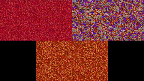 モザイクデジタルトランジション After Effectsテンプレート