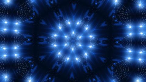 Blue laser kaleidoscope Stock Video Footage