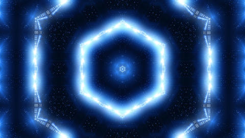 Blue laser kaleidoscope Animation