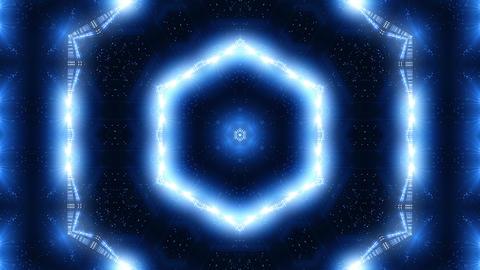 Blue laser kaleidoscope Animación