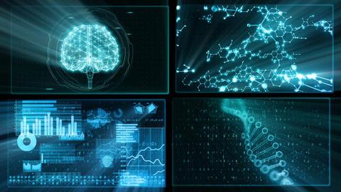 Digital Network Technology AI artificial intelligence data concepts Background D 1 2x2 P blue Fix Animation