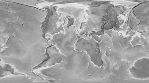 Denmark - hub of the world. Grayscale Animation