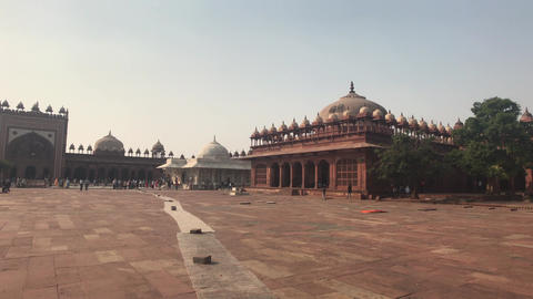 Fatehpur Sikri, India - historic buildings of the ancient city part 14 Live Action
