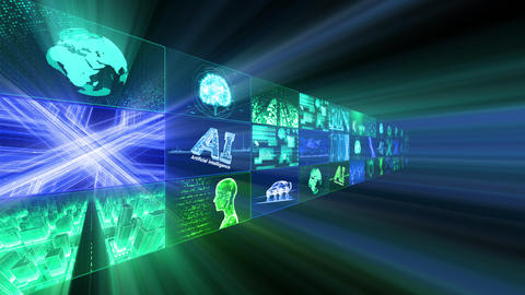 Digital Network Technology AI artificial intelligence data concepts Background D Tate B1 3x3 Fix Animation