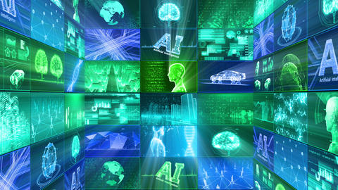 Digital Network Technology AI artificial intelligence data concepts Background D Tate E1 3x3 Fix Animation