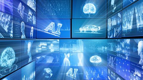 Digital Network Technology AI artificial intelligence data concepts Background D Tate E1 Mix Fix Animation