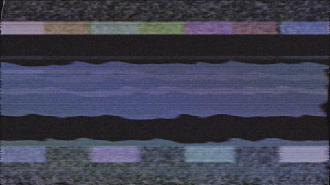 TV set screen Switch Off. No signal old vintage TV. Static color noise. Glitch Animation