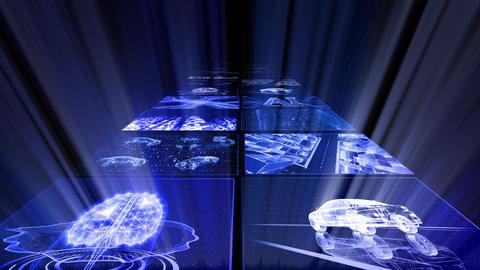 Digital Network Technology AI artificial intelligence data concepts Background D Yoko B1 2x2 Move Animation
