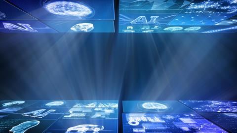 Digital Network Technology AI artificial intelligence data concepts Background D Yoko D1 Mix Fix Animation