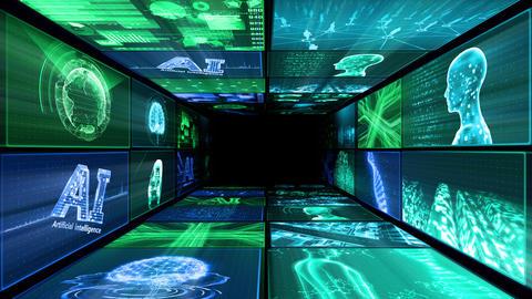 Digital Network Technology AI artificial intelligence data concepts Background D Yo-Ta A1 2x2 Fix Animation