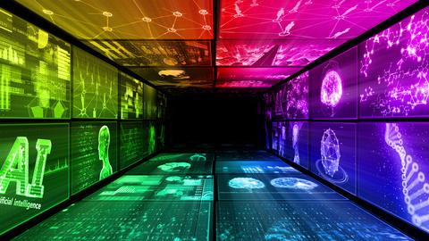 Digital Network Technology AI artificial intelligence data concepts Background D Yo-Ta A1 2x2 Animation