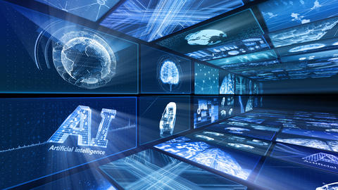 Digital Network Technology AI artificial intelligence data concepts Background D Yo-Ta B1 2x2 Fix Animation