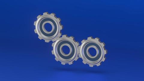 The rotation of the three gears CG動画