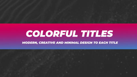 Colorful Titles Motion Graphics Template