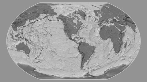 Dominican Republic - hub of the world. Bilevel Animation