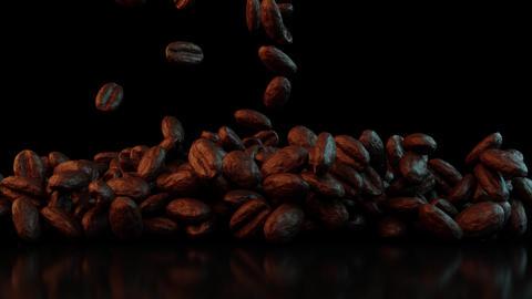 Falling coffee beans CG動画