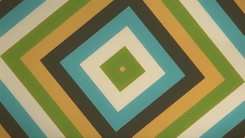レトロなイメージの四角形波紋ループ シームレス ループ ビデオ CG動画