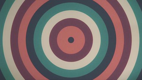 レトロなイメージの円波紋ループ シームレス ループ ビデオ CG動画