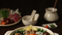 Japanese style casserole Footage