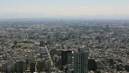 High-angle view of Tokyo cityscape on a sunny day, Tokyo, Japan Footage