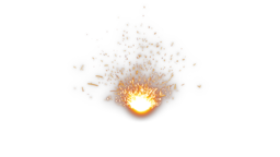 Sparks Bounce Front Animation