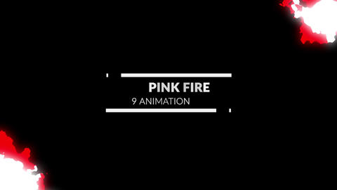 9 pink fire animations Motion Graphics Template
