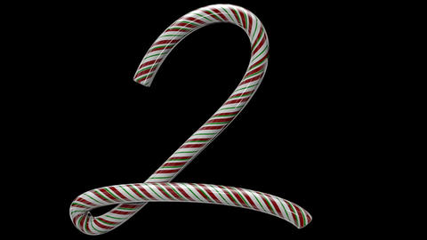 Glossy candy cane 3d animated text typography with separate alpha channel 2 Animation