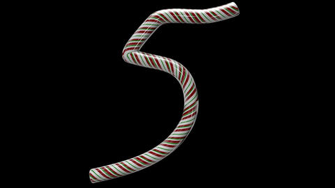 Glossy candy cane 3d animated text typography with separate alpha channel 5 Animation
