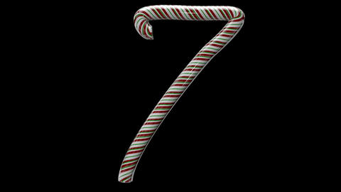 Glossy candy cane 3d animated text typography with separate alpha channel 7 Animation