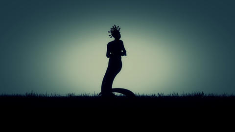 Medusa the Gorgo of the Greek mythology Live Action