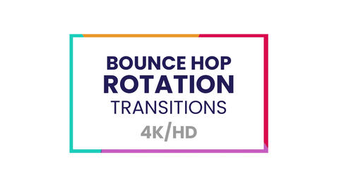 Bounce Hop Rotation Transitions Presets After Effectsアニメーションプリセット