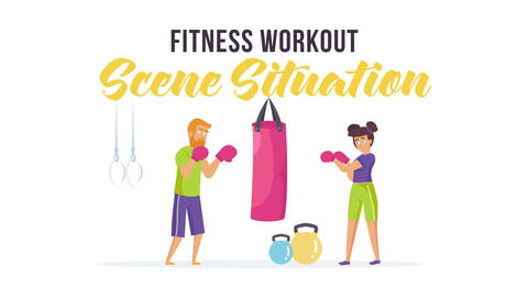 Fitness workout - Scene Situation After Effects Template