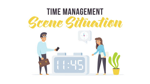 Time management - Scene Situation Plantilla de After Effects
