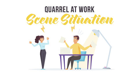Quarrel at work - Scene Situation After Effects Template