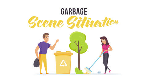 Garbage - Scene Situation After Effects Template