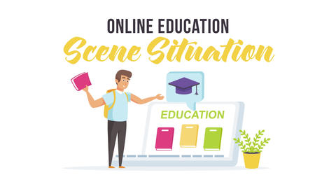 Online education - Scene Situation After Effects Template