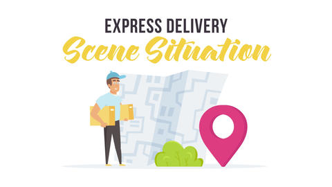 Express delivery - Scene Situation After Effects Template