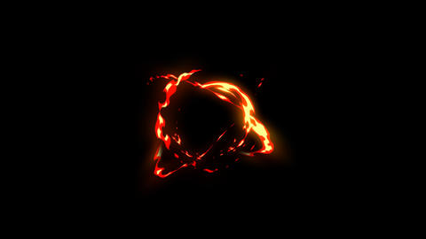 Fire atomic motion with night background Animation