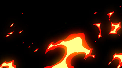 Raging fire motion graphics with night background Animation