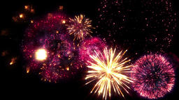 Fireworks motion graphics with night background CG動画