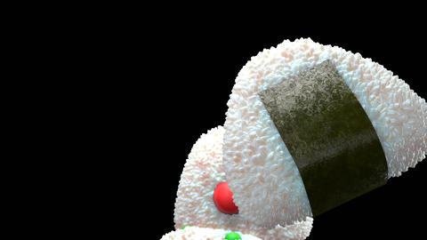 Various of rice balls Videos animados