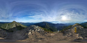 【360VR】Top of Mount. Kashimayari, Japan Fotografía de realidad virtual (RV) en 360°