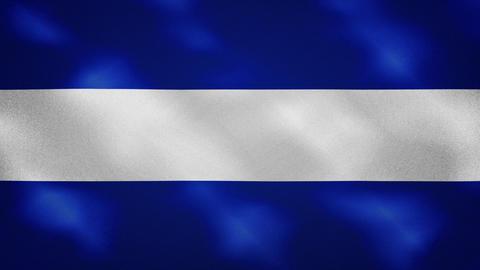 El Salvador dense flag fabric wavers, background loop Animation