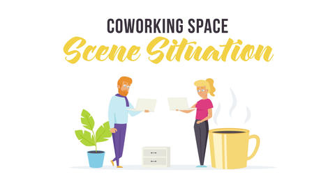Coworking space - Scene Situation After Effects Template