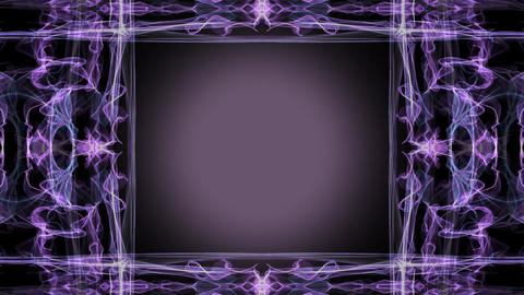 purple fractal based animated frame with light purple circle in center Animation